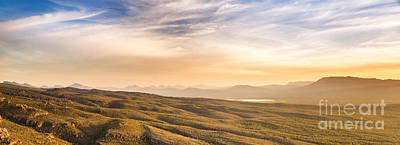 Mountain Royalty-Free and Rights-Managed Images - Mountain Sunset Panorama by Tim Hester