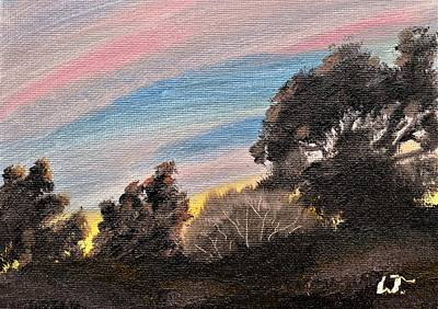 Painting - Mountain Sunset by Warren Thompson