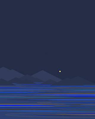 Digital Art - Mountain Tops II by Val Arie
