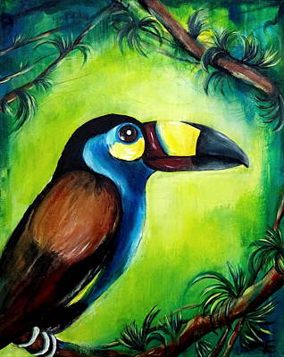 Mountain Toucan Original by Erica Seckinger