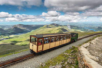Pinion Photograph - Mountain Train by Adrian Evans