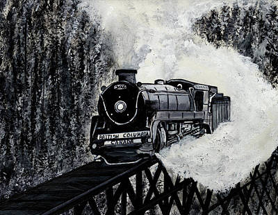 Painting - Mountain Train by Pj Artman