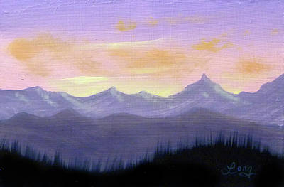 Painting - Mountain Valley 1 by JJ Long