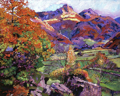 Painting - Mountain Valley by David Lloyd Glover