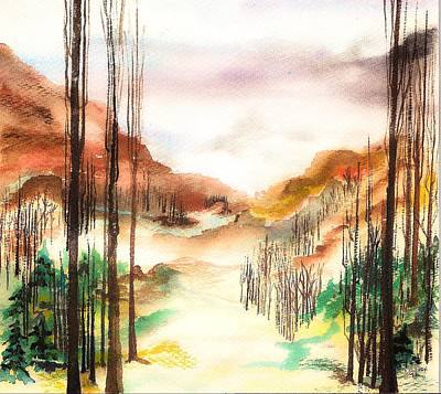 Painting - Mountain Valley by Ellen Canfield