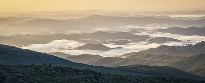 Photograph - Mountain Valley Fog - Blue Ridge Parkway by Victor Ellison