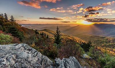 Photograph - Mountain Valley Glow - Blue Ridge Mountains by Donnie Whitaker
