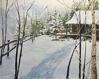 Painting - Mountain View by Alan Lakin