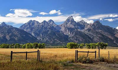 Photograph - Mountain View Along Mormon Row by Carolyn Derstine