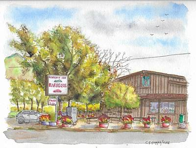 Mountain View Barbeque In Walker, California Original by Carlos G Groppa