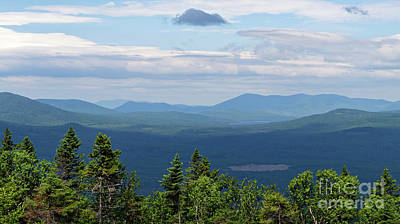 Photograph - Mountain View, Dallas Plantation Near Rangeley, Maine  -63232 by John Bald