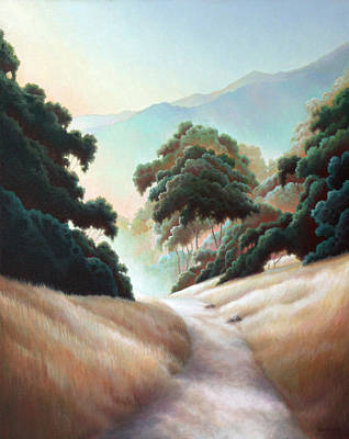 Painting - Mountain View Hike by Charle Hazlehurst