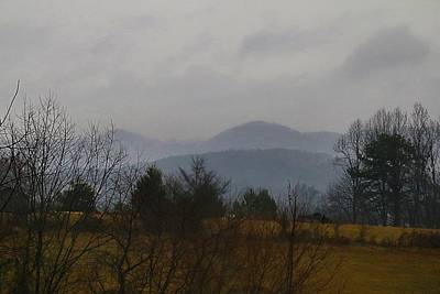 Photograph - Mountain View In The Fog by Kathryn Meyer