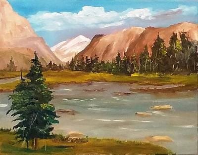 Painting - Mountain View by Larry Hamilton