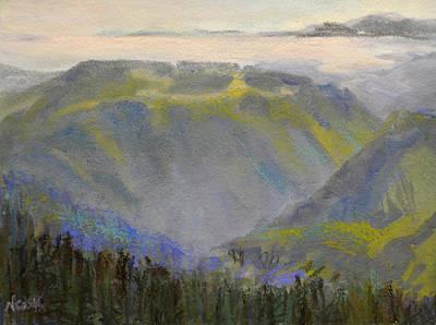 Pastel - Mountain View by Nanci Cook
