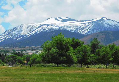 Photograph - Mountain View - Reno Nevada by Emmy Vickers