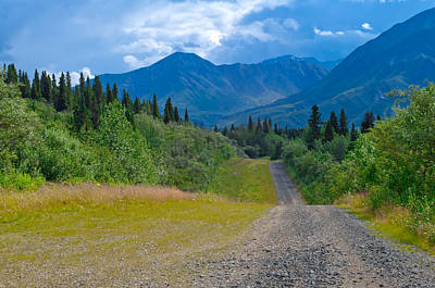 Photograph - Mountain View - Richardson Highway Alaska by Cathy Mahnke