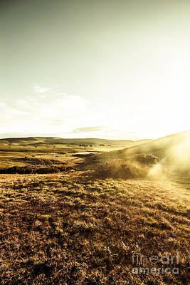 Mountain Views And Misty Sunlight Art Print by Jorgo Photography - Wall Art Gallery