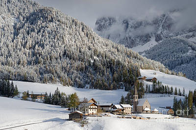 Photograph - Mountain Village In The Snow by IPics Photography
