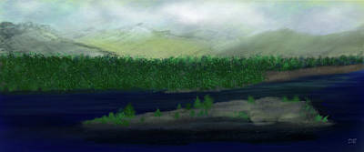 Digital Art - Mountain Vistas by Dick Bourgault