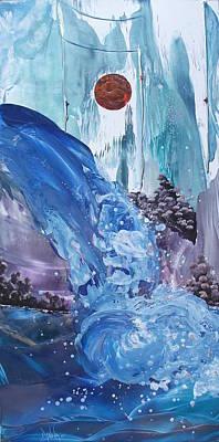Mountain Water Art Print by Danita Cole