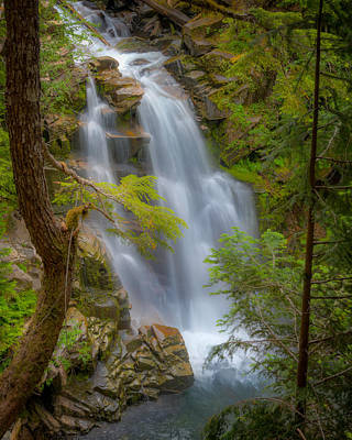 Photograph - Mountain Waterfall 5613 by Chris McKenna