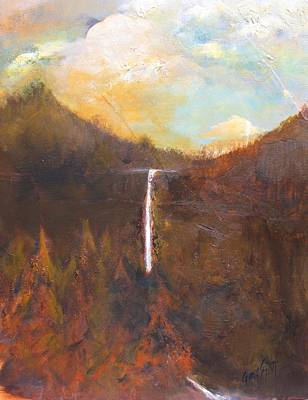 Painting - Mountain Waterfall by Gary Smith
