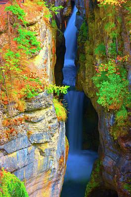 Mountain Waterfall Art Print by Paul Kloschinsky