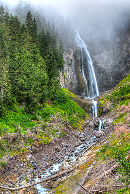 Photograph - Mountain Waterfalls 5808 by Chris McKenna