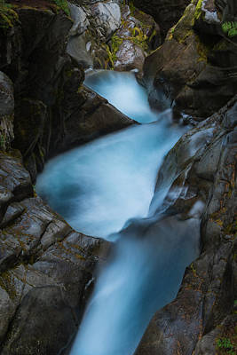 Photograph - Mountain Waterfalls 5863 by Chris McKenna