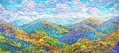 Digital Art - Mountain Waves - Boulder Colorado Vista by Joel Bruce Wallach