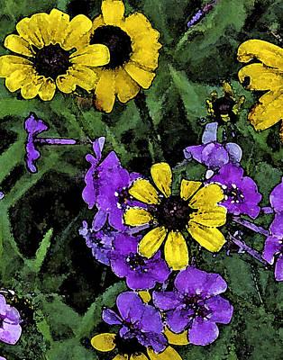 Mountain Wildflowers Art Print by Debra Wilkinson