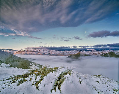 Moon Photograph - Mountain Winter by Leland D Howard