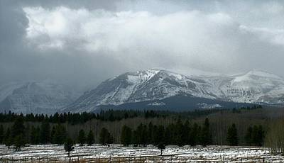 Photograph - Mountain Winter Storm by Tracey Vivar