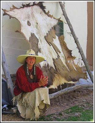 Working Cowboy Photograph - Mountain Woman At Sunday Market In Santa Fe by Dora Sofia Caputo Photographic Art and Design