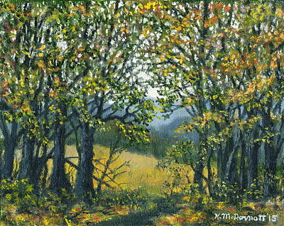 Smokey Mountains Painting - Mountain Woods by Kathleen McDermott