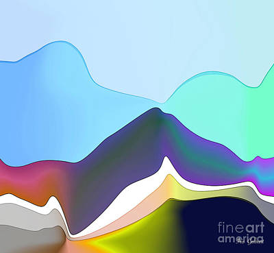 Digital Art - Mountainland by Iris Gelbart