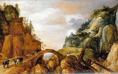 Painting - Mountainous Landscape 1564 by Joos De Momper - Joy of Life Art Gallery