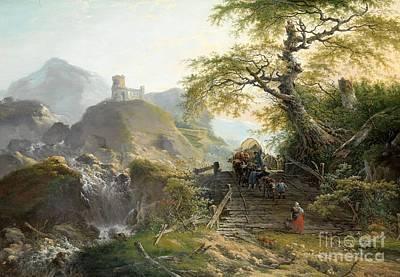 Mountainous Landscape Near Dusseldorf Art Print