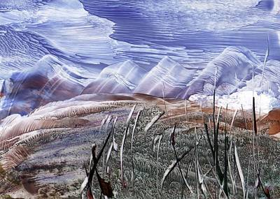 Painting - Mountainous Landscape by Zilpa Van der Gragt