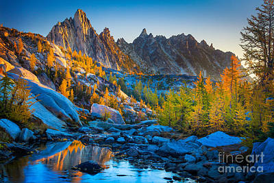 Reflected Photograph - Mountainous Paradise by Inge Johnsson