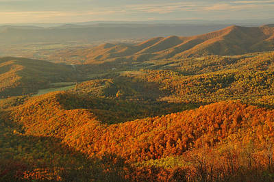 Mountainous Sunset Landscape Art Print