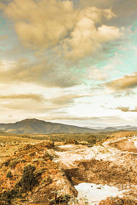 Mountainous Tasmania Scenery Art Print by Jorgo Photography - Wall Art Gallery