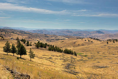 Central Photograph - Mountainous Terrain In Central Oregon by David Gn