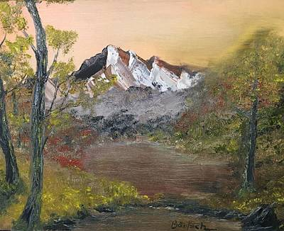Painting - Mountains Afar by David Bartsch
