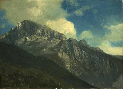 Beautiful Scenery Painting - Mountains by Celestial Images
