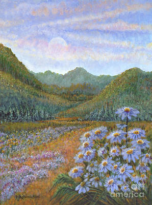 Painting - Mountains And Asters by Holly Carmichael