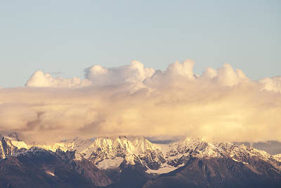 Photograph - Mountains And Clouds by Michele Cornelius