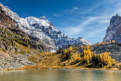 Photograph - Mountains And Glaciers In Autumn by Pierre Leclerc Photography