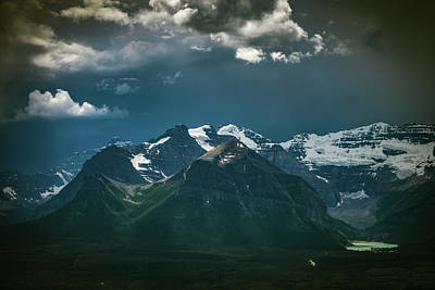 Photograph - Mountains And Lake Louise, Banff National Park by William Lee